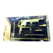 Пистолет продувочный пневматический ПН-10АА (с набором головок)